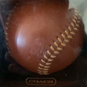 COACH Authentic Leather Hard Baseball Paperweight